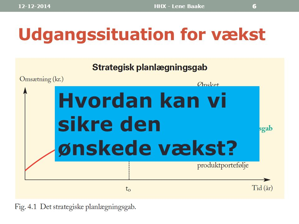 Udgangssituation for vækst