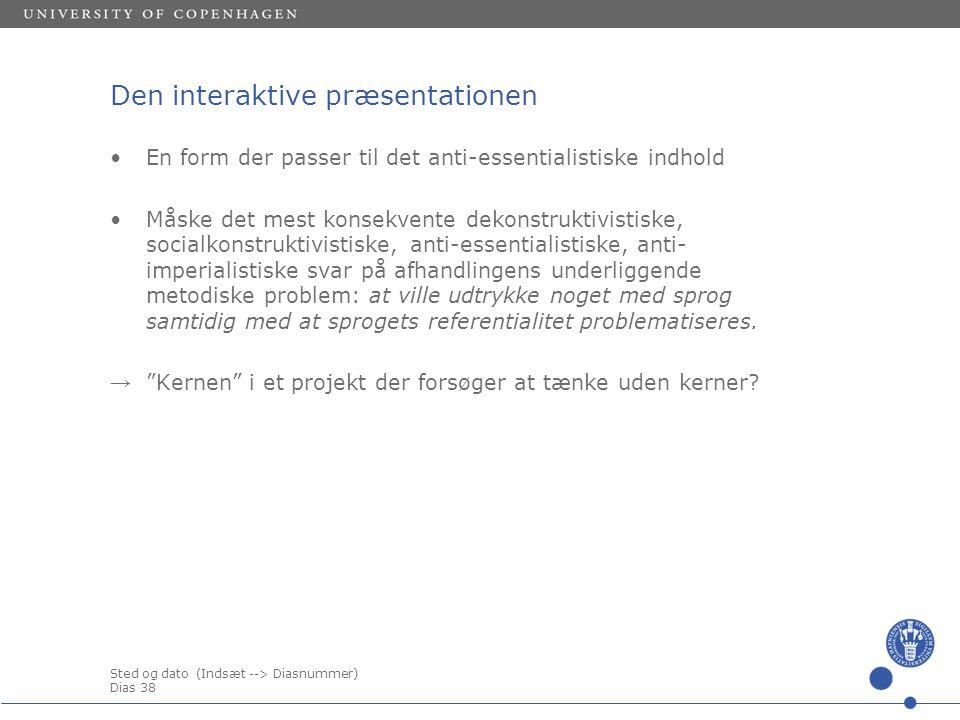 Den interaktive præsentationen