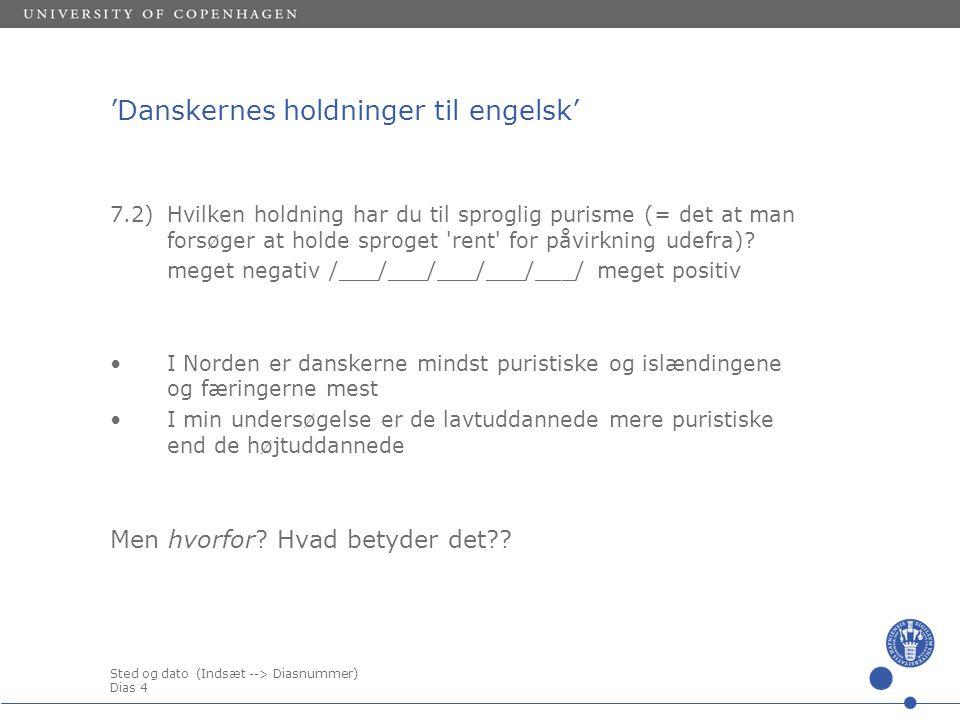 'Danskernes holdninger til engelsk'