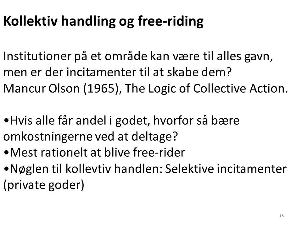 Kollektiv handling og free-riding