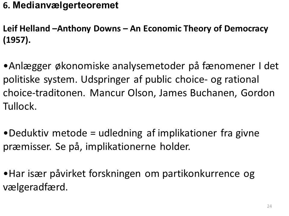 Har især påvirket forskningen om partikonkurrence og vælgeradfærd.