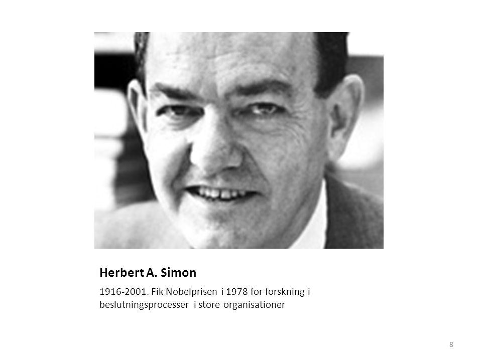 Herbert A. Simon er har fået Nobelprisen