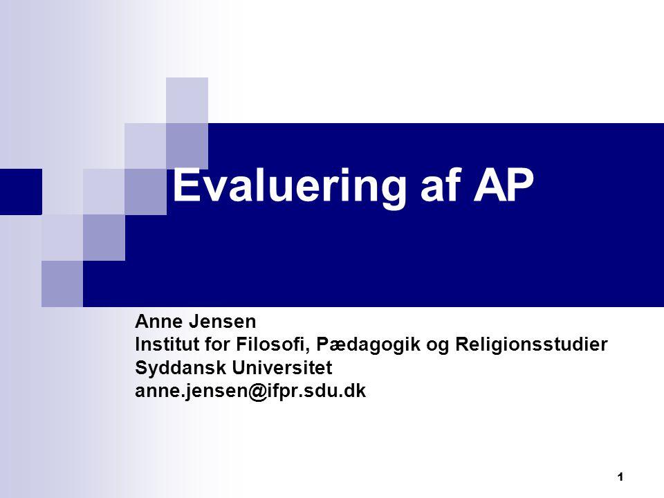 Evaluering af AP Anne Jensen