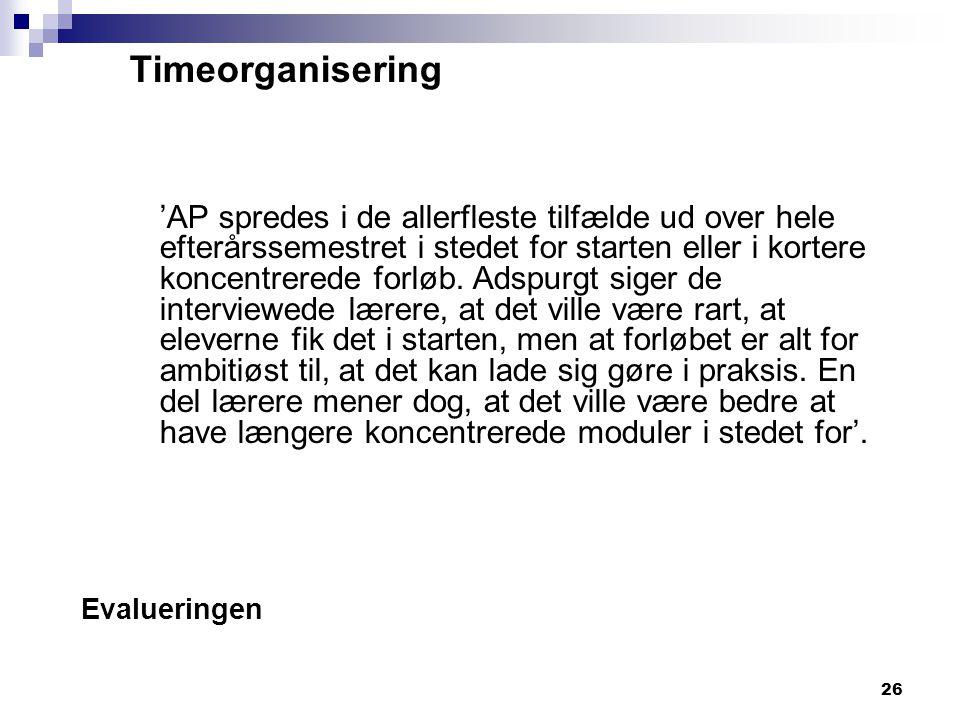 Timeorganisering
