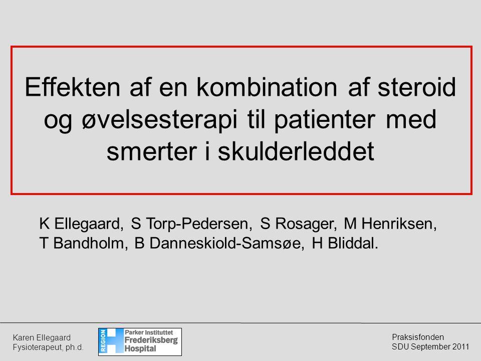 Effekten af en kombination af steroid og øvelsesterapi til patienter med smerter i skulderleddet