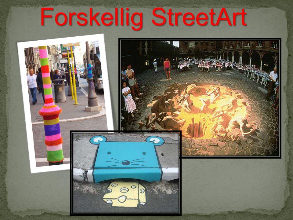 Forskellig StreetArt