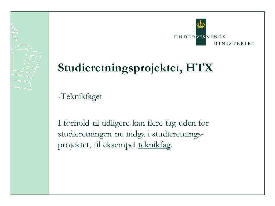 Studieretningsprojektet, HTX