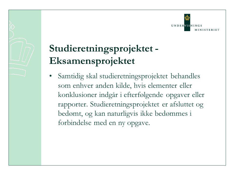 Studieretningsprojektet - Eksamensprojektet