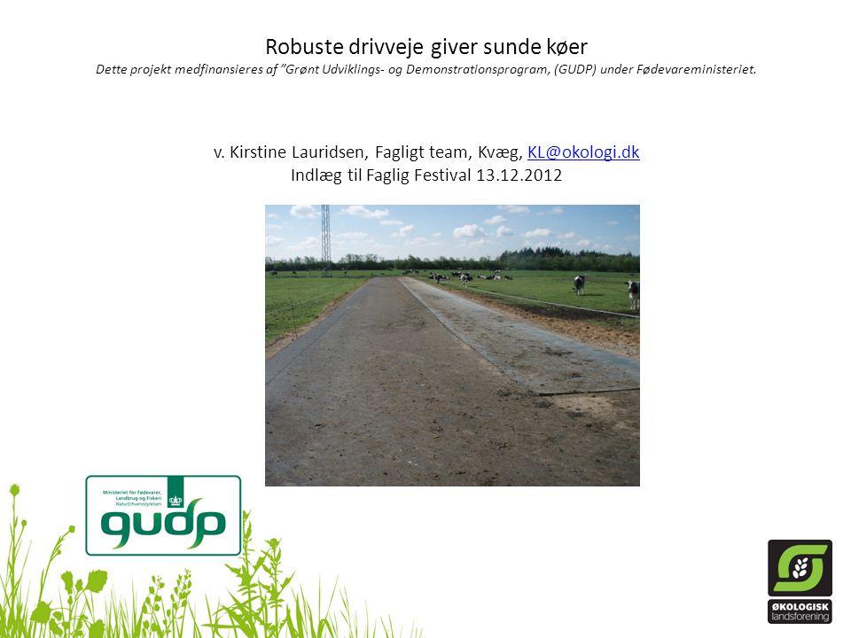 Robuste drivveje giver sunde køer Dette projekt medfinansieres af Grønt Udviklings- og Demonstrationsprogram, (GUDP) under Fødevareministeriet.