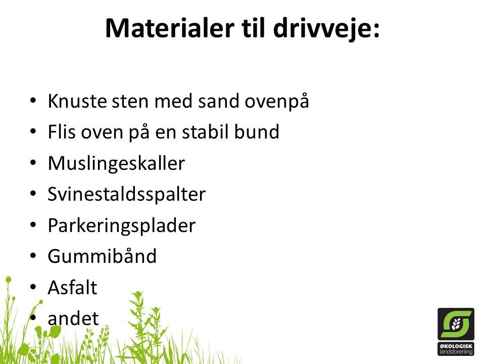 Materialer til drivveje: