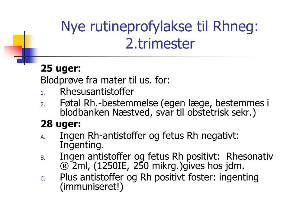 Nye rutineprofylakse til Rhneg: 2.trimester