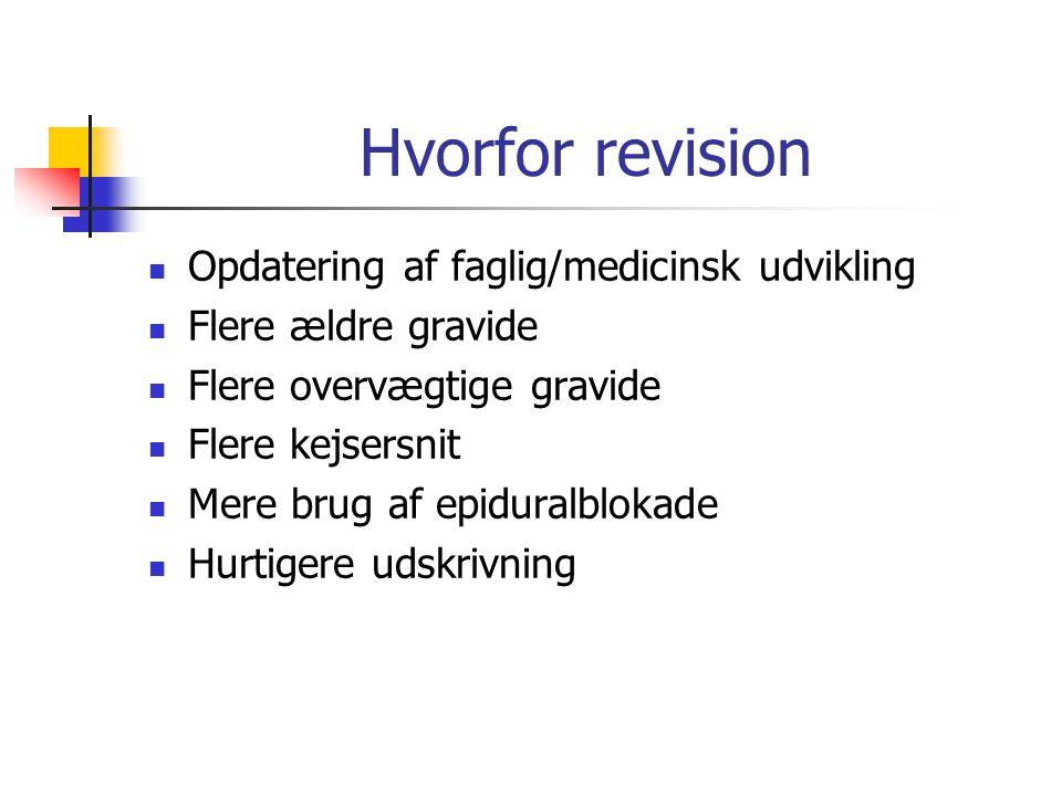 Hvorfor revision Opdatering af faglig/medicinsk udvikling
