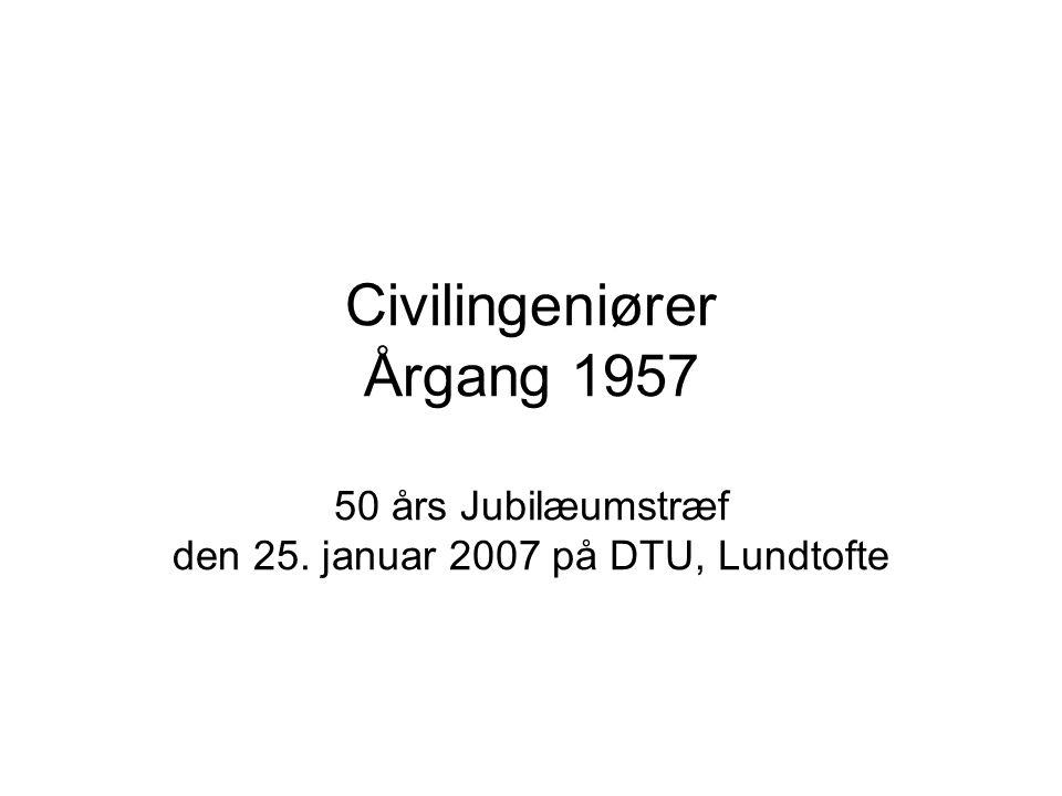 Civilingeniører Årgang 1957 50 års Jubilæumstræf den 25