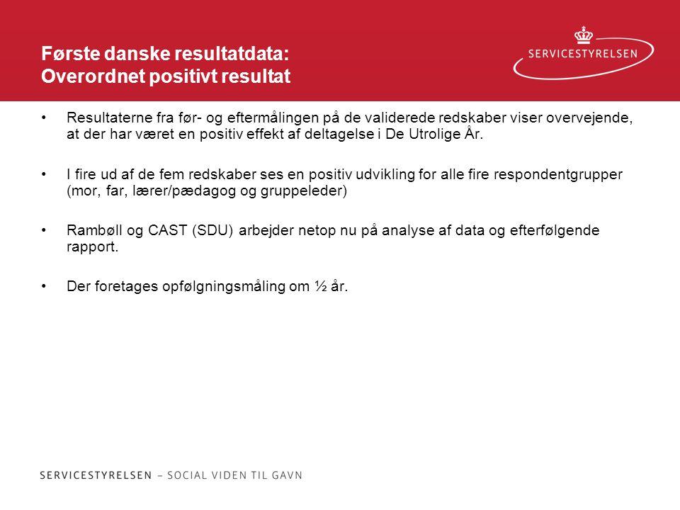 Første danske resultatdata: Overordnet positivt resultat
