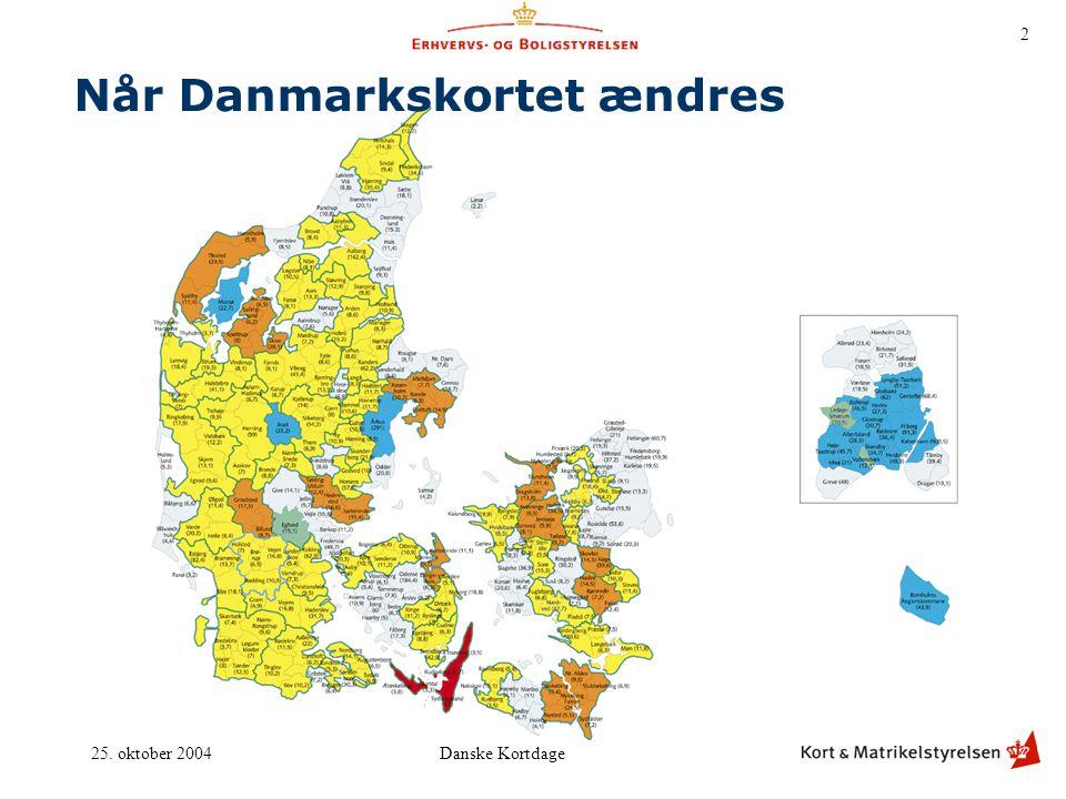 Når Danmarkskortet ændres