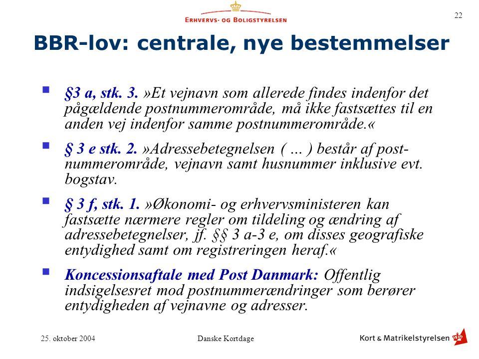 BBR-lov: centrale, nye bestemmelser