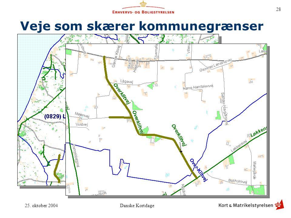 Veje som skærer kommunegrænser