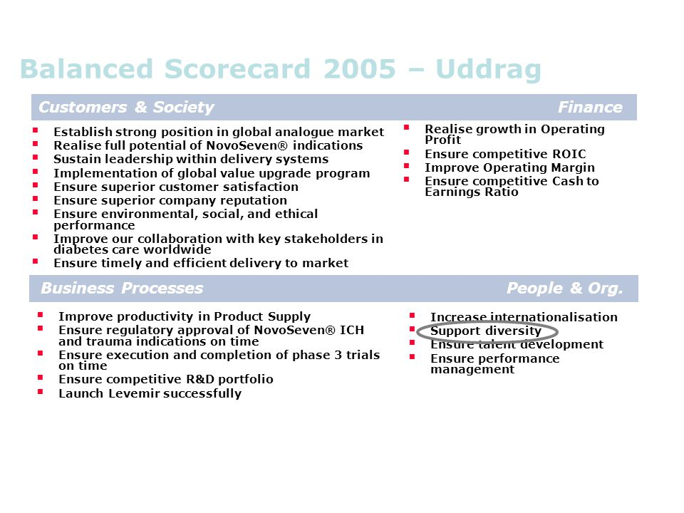 Balanced Scorecard 2005 – Uddrag
