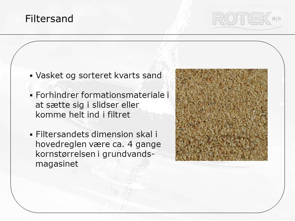Filtersand Vasket og sorteret kvarts sand