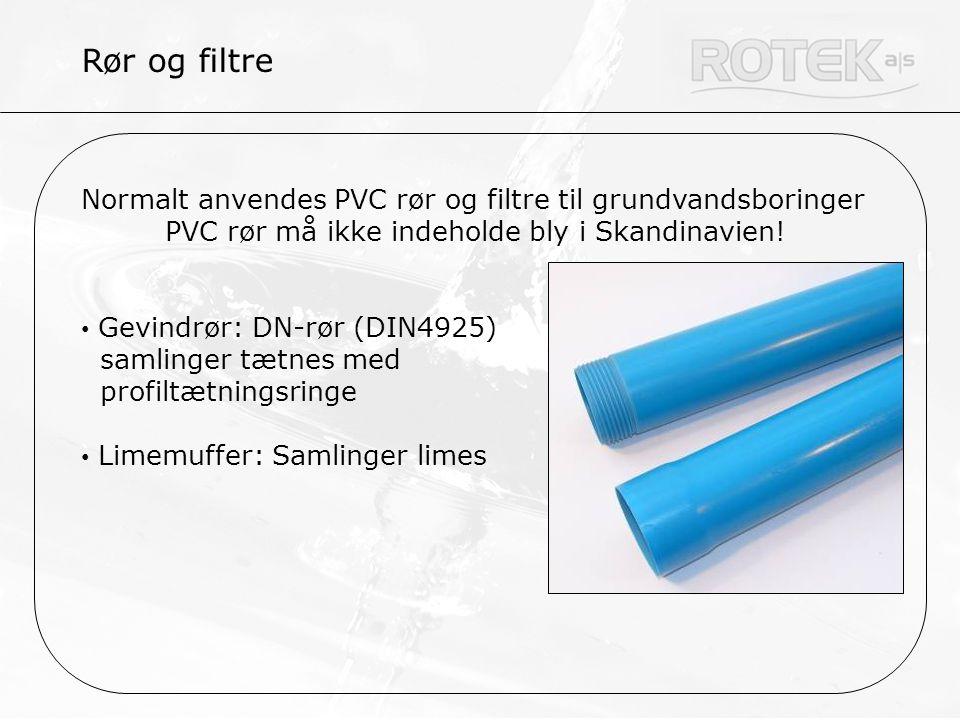PVC rør må ikke indeholde bly i Skandinavien!