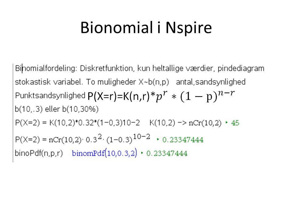 Bionomial i Nspire