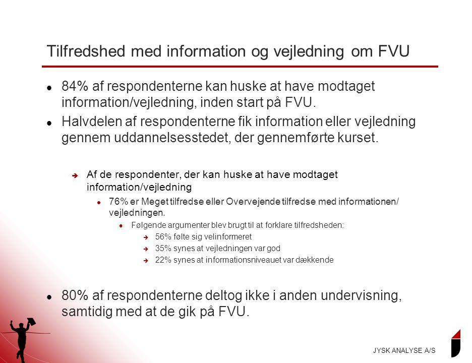 Tilfredshed med information og vejledning om FVU