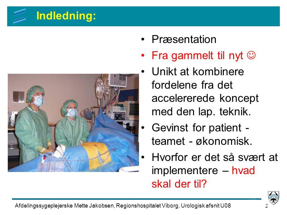 Gevinst for patient - teamet - økonomisk.