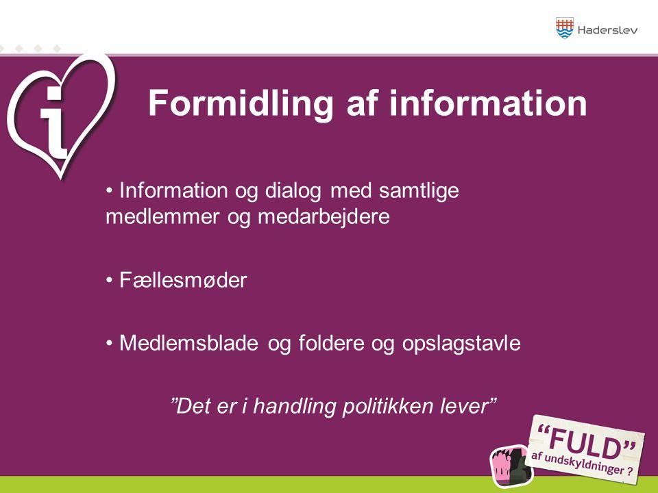 Formidling af information