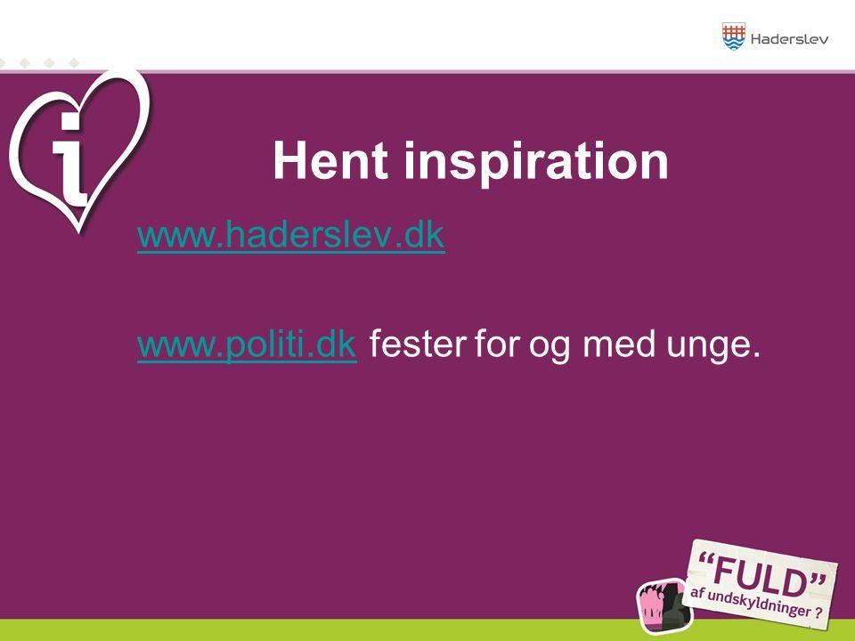 www.haderslev.dk www.politi.dk fester for og med unge.