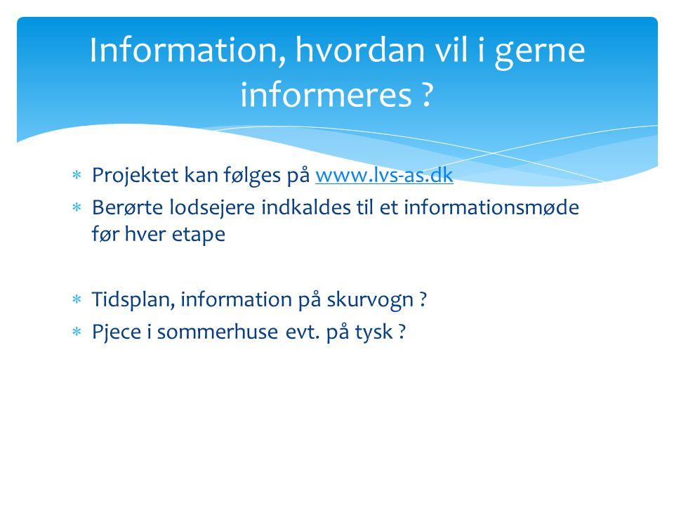 Information, hvordan vil i gerne informeres