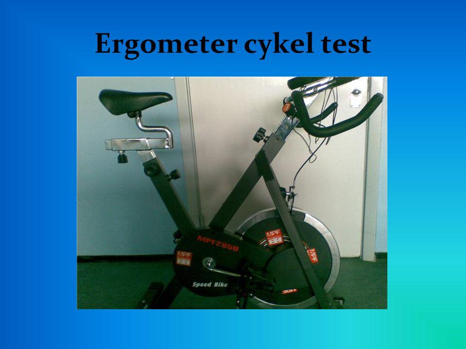 Ergometer cykel test