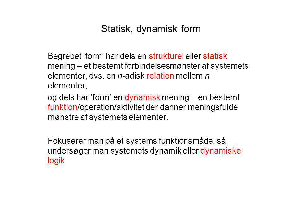 Statisk, dynamisk form