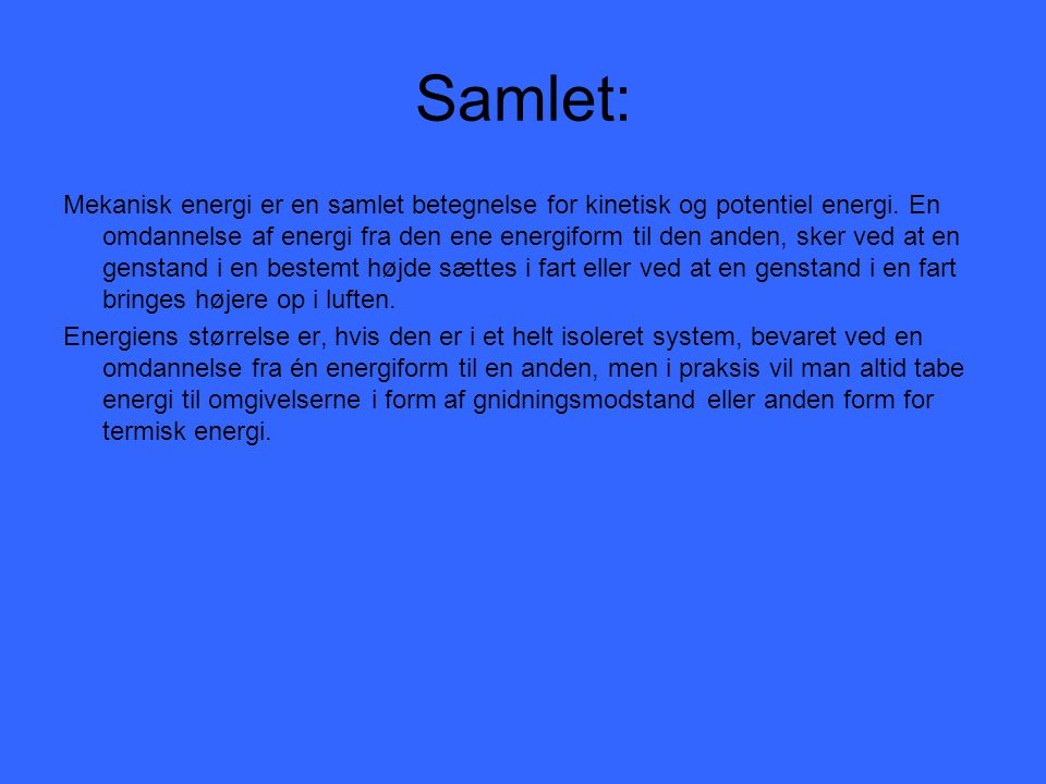 Samlet: