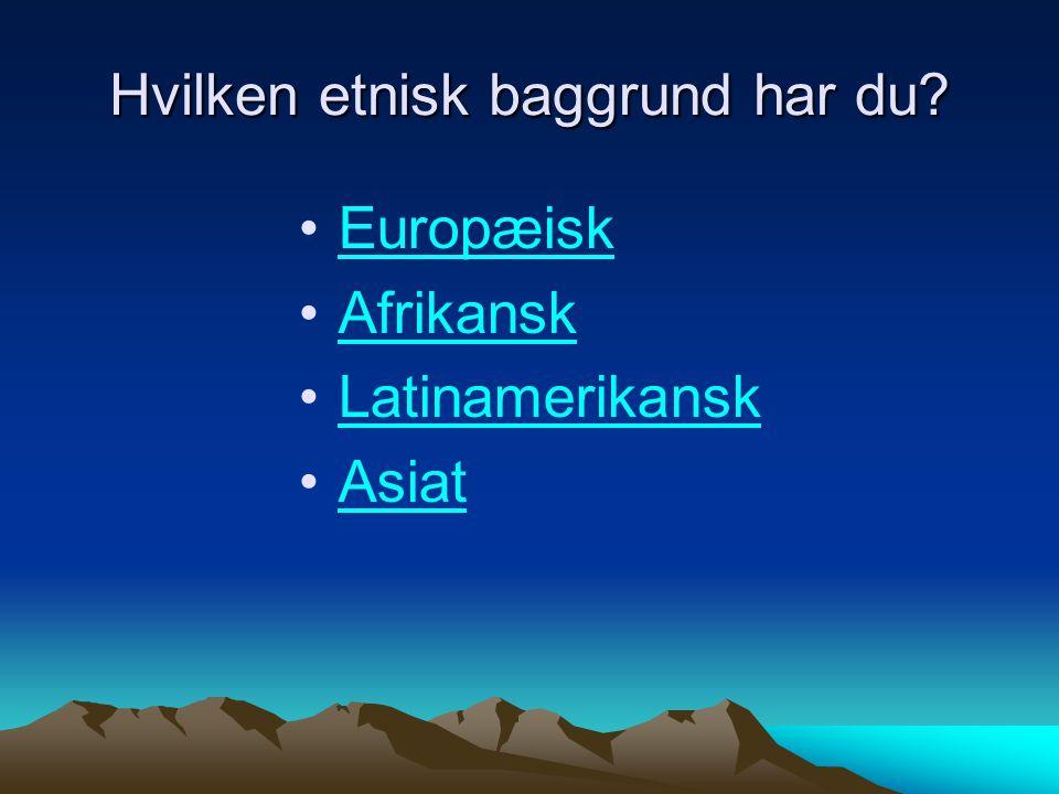 Hvilken etnisk baggrund har du