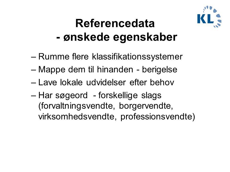 Referencedata - ønskede egenskaber