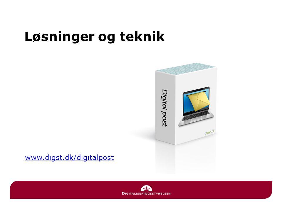 Løsninger og teknik www.digst.dk/digitalpost