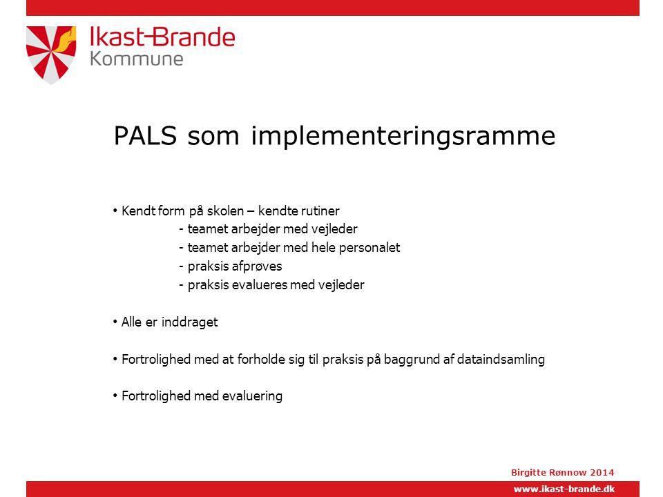PALS som implementeringsramme