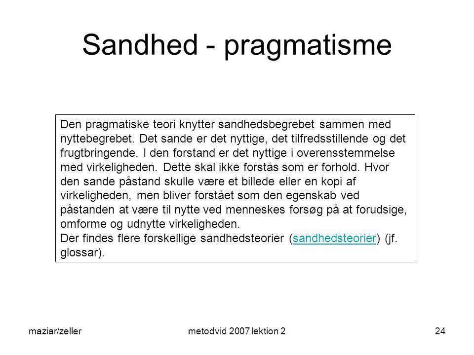 Sandhed - pragmatisme