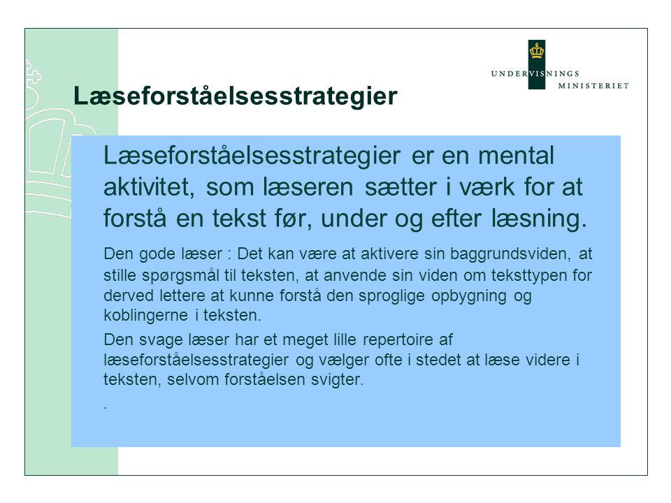 Læseforståelsesstrategier