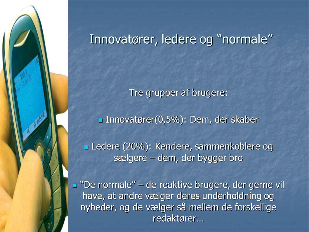 Innovatører, ledere og normale
