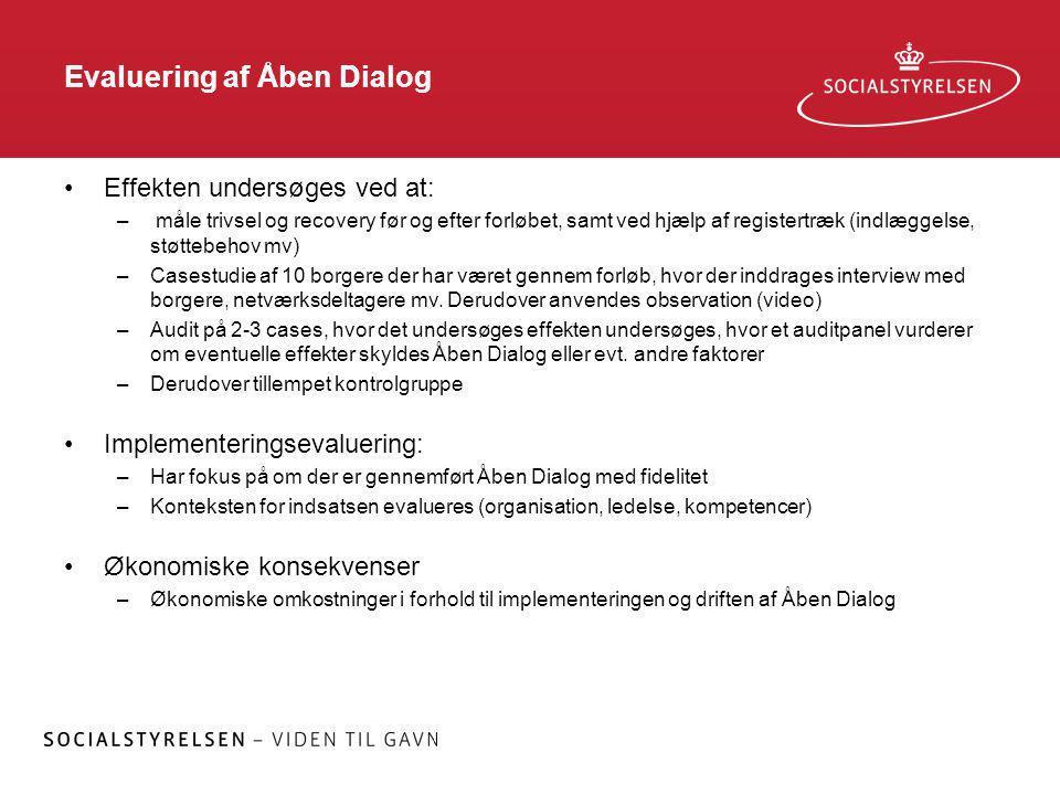 Evaluering af Åben Dialog