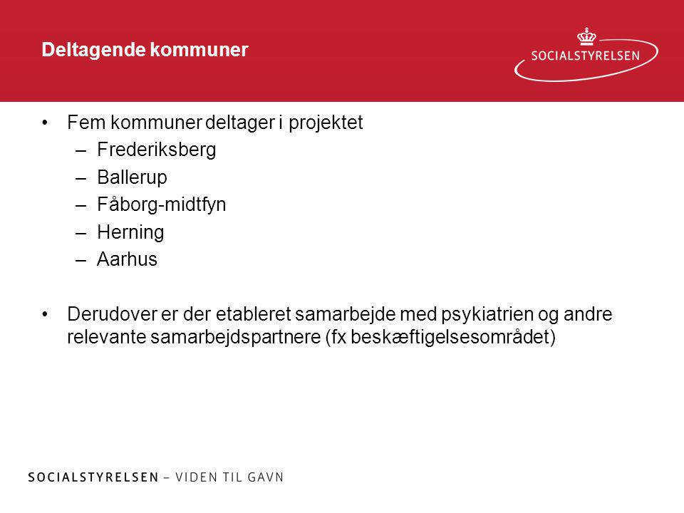 Deltagende kommuner Fem kommuner deltager i projektet. Frederiksberg. Ballerup. Fåborg-midtfyn. Herning.