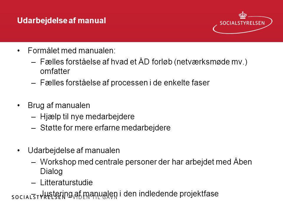 Udarbejdelse af manual