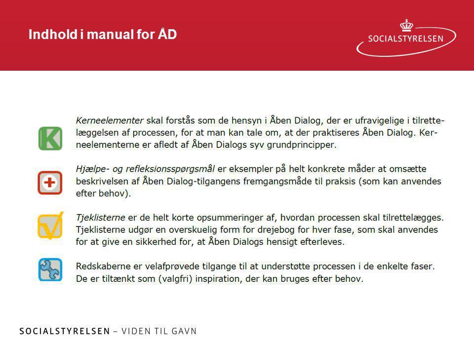 Indhold i manual for ÅD