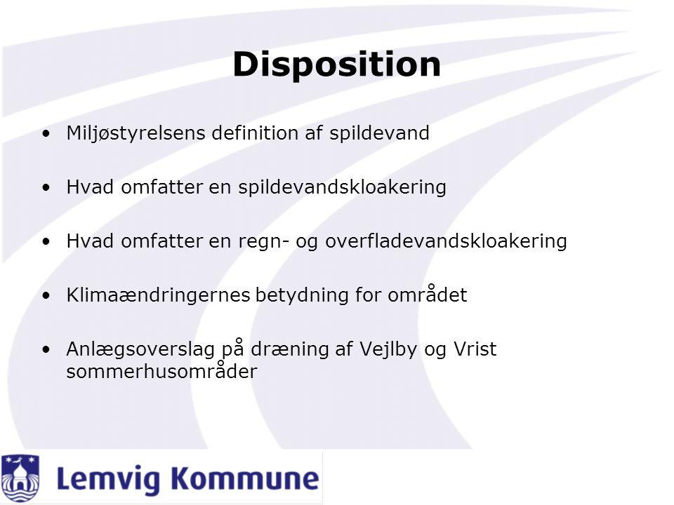 Disposition Miljøstyrelsens definition af spildevand