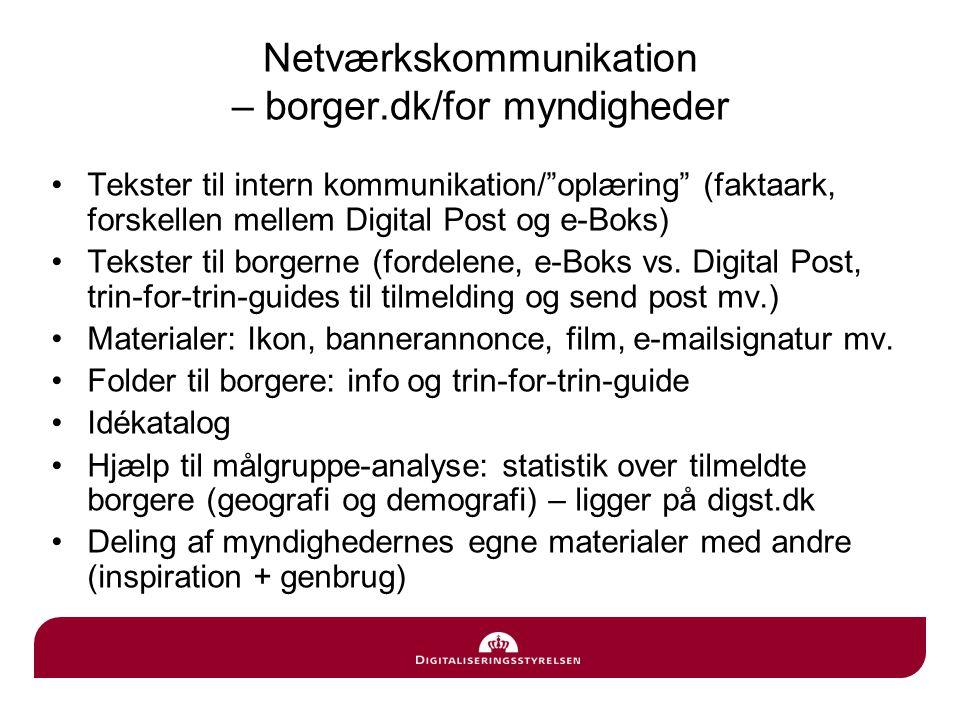 Netværkskommunikation – borger.dk/for myndigheder