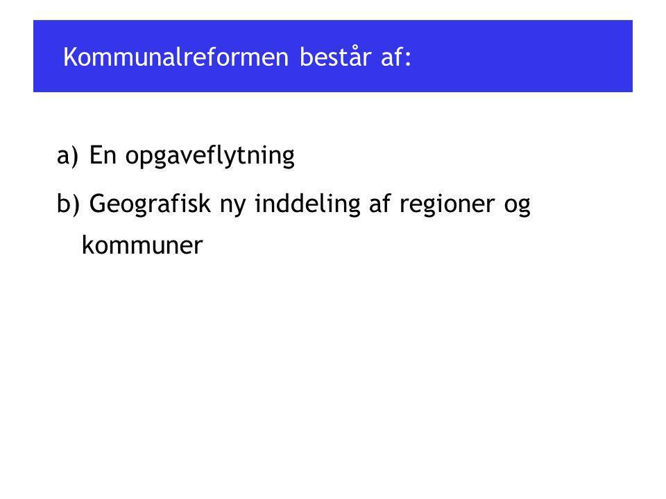 Kommunalreformen består af: