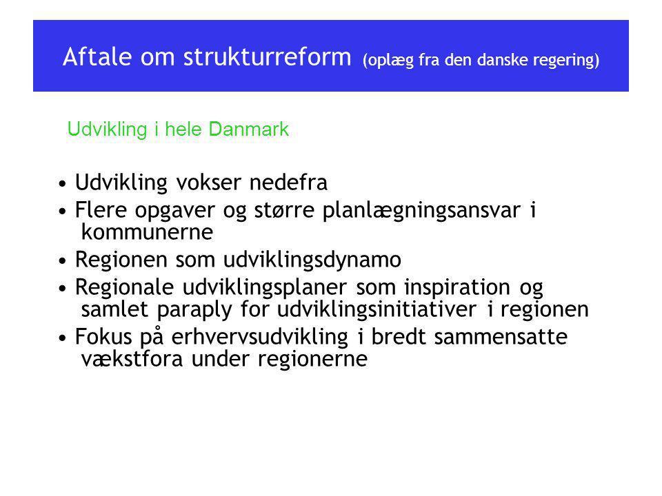 Aftale om strukturreform (oplæg fra den danske regering)
