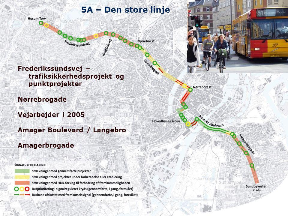5A – Den store linje Frederikssundsvej – trafiksikkerhedsprojekt og punktprojekter. Nørrebrogade. Vejarbejder i 2005.