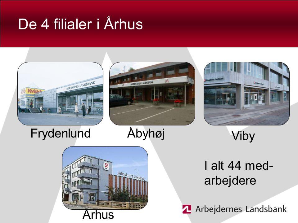 De 4 filialer i Århus Frydenlund Åbyhøj Viby I alt 44 med- arbejdere